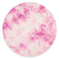 Safavieh Dip Dye Trellis 7-Foot Round Area Rug in Rose/Ivory