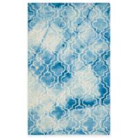 Safavieh Dip Dye Trellis 6-Foot x 9-Foot Area Rug in Blue/Ivory