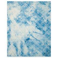 Safavieh Dip Dye Trellis 8-Foot x 10-Foot Area Rug in Blue/Ivory