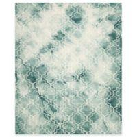 Safavieh Dip Dye Trellis 8-Foot x 10-Foot Area Rug in Green/Ivory