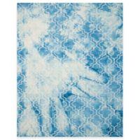 Safavieh Dip Dye Trellis 9-Foot x 12-Foot Area Rug in Blue/Ivory