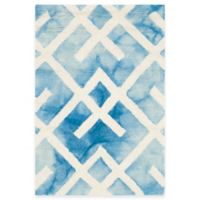 Safavieh Dip Dye Angles 2-Foot x 3-Foot Accent Rug in Blue/Ivory