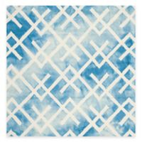 Safavieh Dip Dye Angles 5-Foot Square Area Rug in Blue/Ivory