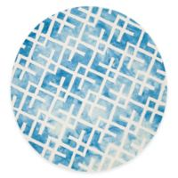 Safavieh Dip Dye Angles 5-Foot Round Area Rug in Blue/Ivory
