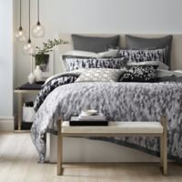 Canadian Living Winnipeg King Duvet Cover in Grey/Charcoal