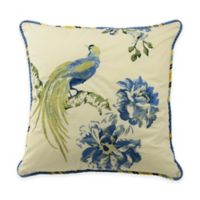 Waverly® Floral Engagement Embroidered Square Throw Pillow in Porcelain