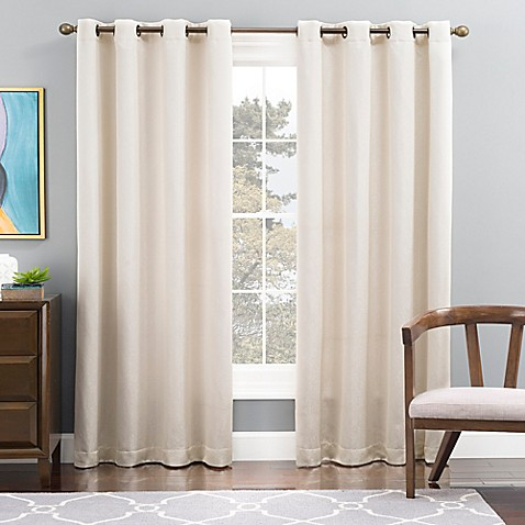 Buy Tribeca 108 Inch Grommet Top Lined Window Curtain Panel In Snow From Bed Bath Beyond