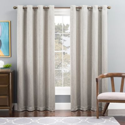 Buy 63 Silver Curtains from Bed Bath & Beyond