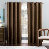 Tribeca 108-Inch Grommet Top Lined Window Curtain Panel in Brown