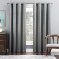 Tribeca 95-Inch Grommet Top Lined Window Curtain Panel in Blue