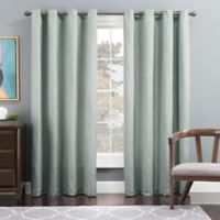 Tribeca 84-Inch Grommet Top Lined Window Curtain Panel in Seafoam