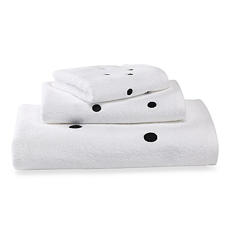 Kate spade new york deco dot bath towel bed bath beyond for Bed bath and beyond kate spade
