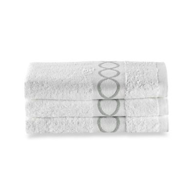 Hand Towels In White (Set Of 3)