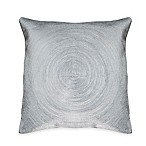 Austin Horn® Classics Spiral Embroidery Square Throw Pillow in Silver