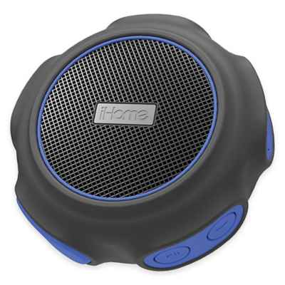 iHome® Waterproof + Shockproof Wireless Bluetooth® Speaker in Blue/Black