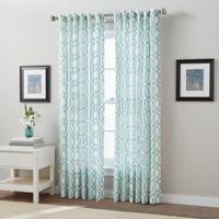 Link 63-Inch Back Tab Window Curtain Panel in Aqua