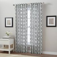 Link 63-Inch Back Tab Window Curtain Panel in Charcoal