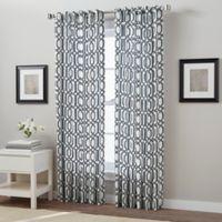 Link 63-Inch Back Tab Window Curtain Panel in Indigo
