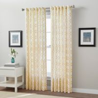 Link 63-Inch Back Tab Window Curtain Panel in Yellow