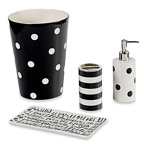 Kate spade new york deco dot bath ensemble bed bath beyond for Bed bath and beyond kate spade