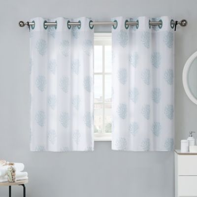 Coral Reef 38 Inch Window Curtain Tier Pair In Grey Mist