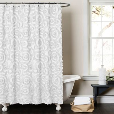 Lush Décor Keila 54 Inch X 78 Inch Shower Curtain In White