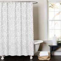 Lush Decor Keila 72 Inch X 84 Shower Curtain In White