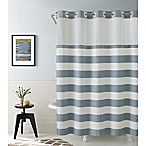 Hookless Cabana Stripe 74-Inch x 71-Inch Shower Curtain in Blue