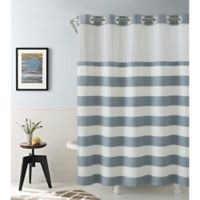 Hookless Cabana Stripe 80-Inch x 54-Inch Shower Curtain in Blue