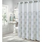 Hookless Coral Reef 74-Inch x 71-Inch Shower Curtain in Grey Mist