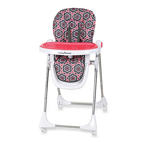 Baby Trend 174 Aspen Lx High Chair In Coral Floral Buybuy Baby