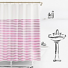 Kate spade new york Harbour Stripe Shower Curtainkate spade new york Harbour Stripe Shower Curtain   Bed Bath   Beyond. Pink And White Striped Shower Curtain. Home Design Ideas