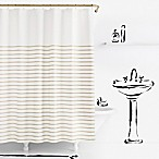 kate spade new york Harbour Stripe Shower Curtain in Beige