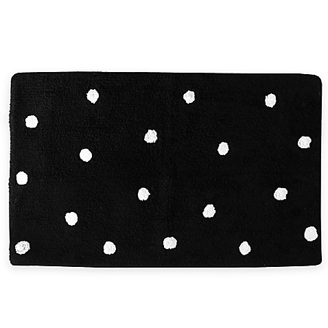 Kate spade new york deco dot bath rug bed bath beyond for Bed bath and beyond kate spade