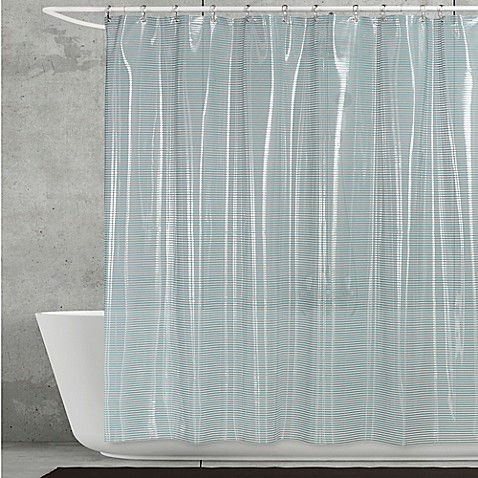 Buy Creative Bath Linea Shower Curtain In Aqua From Bed