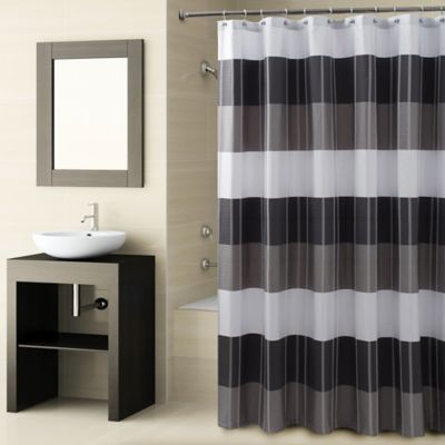 CroscillR Fairfax Shower Curtain In Black