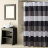 CroscillR Fairfax Shower Curtain In Black