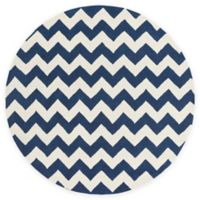 Artistic Weavers Transit Penelope 3-Foot 6-Inch Round Accent Rug in Navy/Ivory