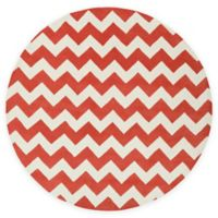 Artistic Weavers Transit Penelope 3-Foot 6-Inch Round Accent Rug in Orange/Ivory