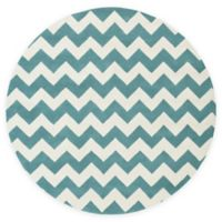 Artistic Weavers Transit Penelope 3-Foot 6-Inch Round Accent Rug in Teal/Ivory