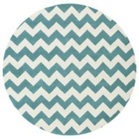 Artistic Weavers Transit Penelope 6-Foot Round Area Rug in Teal/Ivory