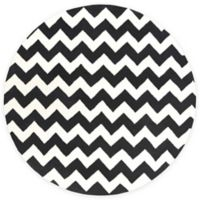 Artistic Weavers Transit Penelope 8-Foot Round Area Rug in Black/Ivory