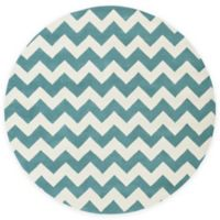 Artistic Weavers Transit Penelope 8-Foot Round Area Rug in Teal/Ivory