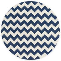 Artistic Weavers Transit Penelope 8-Foot Round Area Rug in Navy/Ivory