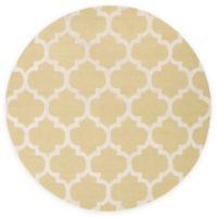 Artistic Weavers Pollack Stella 3-Foot 6-Inch Round Area Rug in Gold/White