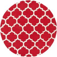 Artistic Weavers Pollack Stella 3-Foot 6-Inch Round Area Rug in Red/White