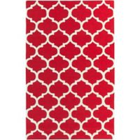 Artistic Weavers Pollack Stella 4-Foot x 6-Foot Area Rug in Red/White