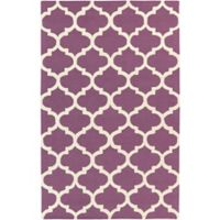 Artistic Weavers Pollack Stella 4-Foot x 6-Foot Area Rug in Purple/White
