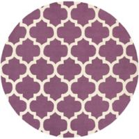 Artistic Weavers Pollack Stella 6-Foot Round Area Rug in Purple/White