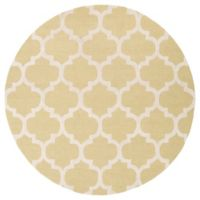 Artistic Weavers Pollack Stella 6-Foot Round Area Rug in Gold/White